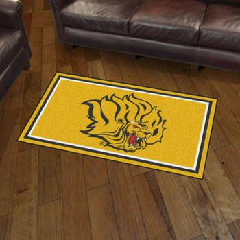 3' x 5' University of Arkansas at Pine Bluff Yellow Rectangle Rug