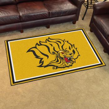 4' x 6' University of Arkansas at Pine Bluff Yellow Rectangle Rug