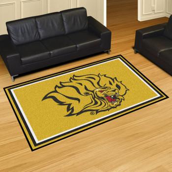 5' x 8' University of Arkansas at Pine Bluff Yellow Rectangle Rug