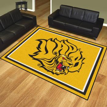 8' x 10' University of Arkansas at Pine Bluff Yellow Rectangle Rug