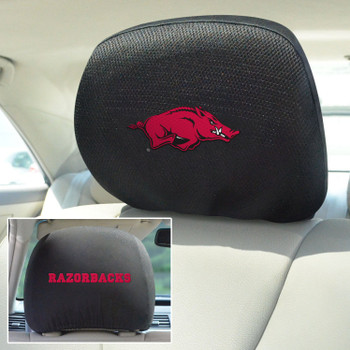 University of Arkansas Car Headrest Cover, Set of 2