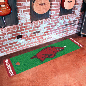 "18"" x 72"" University of Arkansas Putting Green Runner Mat"