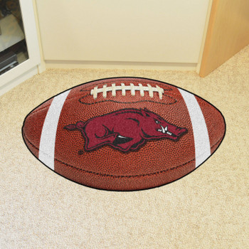 "20.5"" x 32.5"" University of Arkansas Football Shape Mat"