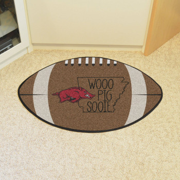 "20.5"" x 32.5"" University of Arkansas Southern Style Football Shape Mat"