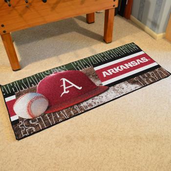 """30"""" x 72"""" Arkansas Baseball Style Rectangle Runner Mat"""