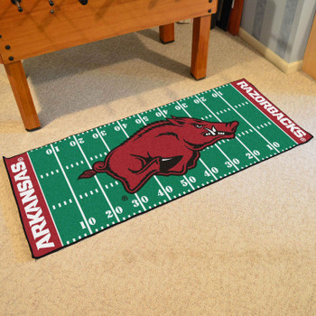 "30"" x 72"" University of Arkansas Football Field Rectangle Runner Mat"