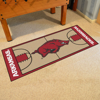 "30"" x 72"" University of Arkansas NCAA Basketball Rectangle Runner Mat"