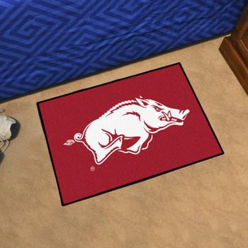 """19"""" x 30"""" University of Arkansas Red Rectangle Starter Mat"""