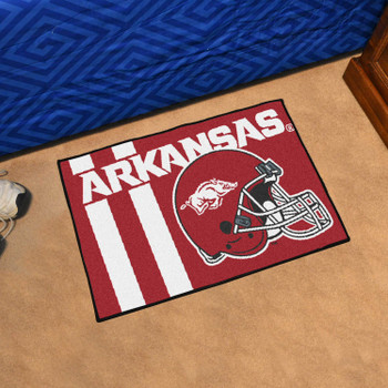 "19"" x 30"" University of Arkansas Uniform Red Rectangle Starter Mat"