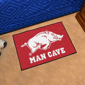 "19"" x 30"" University of Arkansas Man Cave Starter Red Rectangle Mat"