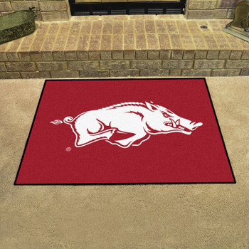 "33.75"" x 42.5"" University of Arkansas All Star Red Rectangle Mat"