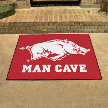 "33.75"" x 42.5"" University of Arkansas Man Cave All-Star Red Rectangle Mat"