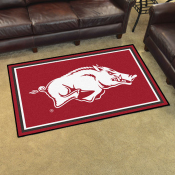4' x 6' University of Arkansas Red Rectangle Rug