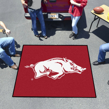 "59.5"" x 71"" University of Arkansas Red Tailgater Mat"