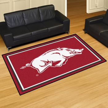 5' x 8' University of Arkansas Red Rectangle Rug