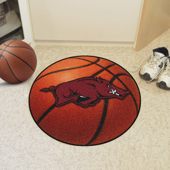 "27"" University of Arkansas Basketball Style Round Mat"