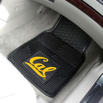 University of California - Berkeley Heavy Duty Vinyl Front Black Car Mat, Set of 2