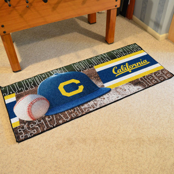 "30"" x 72"" Cal Baseball Style Rectangle Runner Mat"