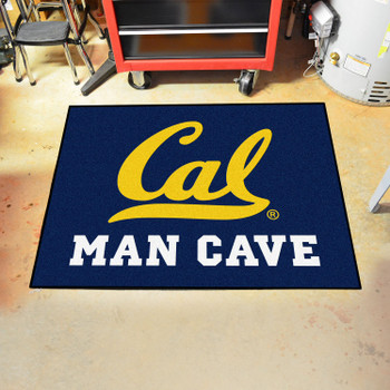 "33.75"" x 42.5"" University of California - Berkeley Man Cave All-Star Blue Rectangle Mat"