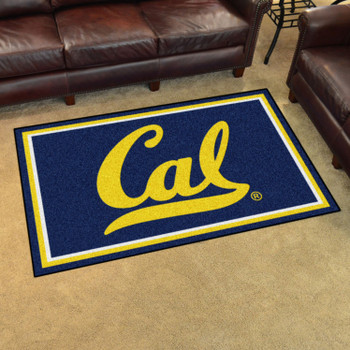 4' x 6' University of California - Berkeley Blue Rectangle Rug