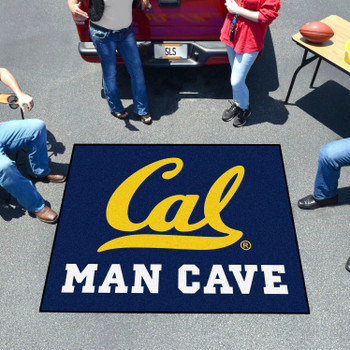 "59.5"" x 71"" University of California - Berkeley Man Cave Tailgater Blue Rectangle Mat"