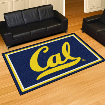 5' x 8' University of California - Berkeley Blue Rectangle Rug