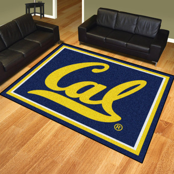 8' x 10' University of California - Berkeley Blue Rectangle Rug