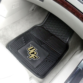 University of Central Florida Heavy Duty Vinyl Front Black Car Mat, Set of 2