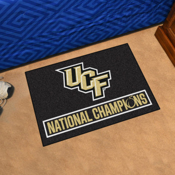 "19"" x 30"" University of Central Florida Black Rectangle Starter Mat"
