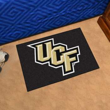 "19"" x 30"" University of Central Florida Knights Black Rectangle Starter Mat"