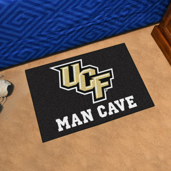 "19"" x 30"" University of Central Florida Man Cave Starter Black Rectangle Mat"
