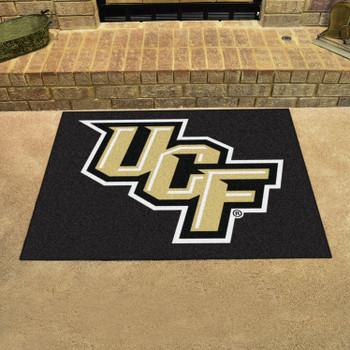 "33.75"" x 42.5"" University of Central Florida All Star Black Rectangle Mat"