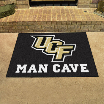 "33.75"" x 42.5"" University of Central Florida Man Cave All-Star Black Rectangle Mat"
