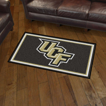 3' x 5' University of Central Florida Black Rectangle Rug