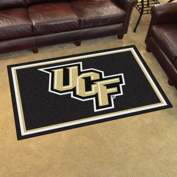 4' x 6' University of Central Florida Black Rectangle Rug