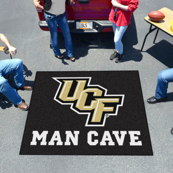 "59.5"" x 71"" University of Central Florida Man Cave Tailgater Black Rectangle Mat"