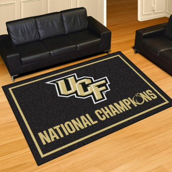 5' x 8' University of Central Florida Black Rectangle Rug