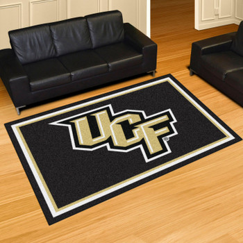 5' x 8' University of Central Florida (UCF) Black Rectangle Rug