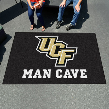 "59.5"" x 94.5"" University of Central Florida Man Cave Black Rectangle Ulti Mat"