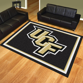 8' x 10' University of Central Florida Black Rectangle Rug