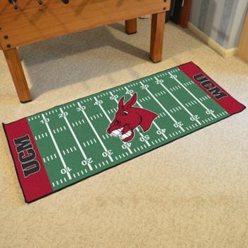 "30"" x 72"" University of Central Missouri Football Field Rectangle Runner Mat"