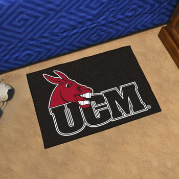 "19"" x 30"" University of Central Missouri Black Rectangle Starter Mat"