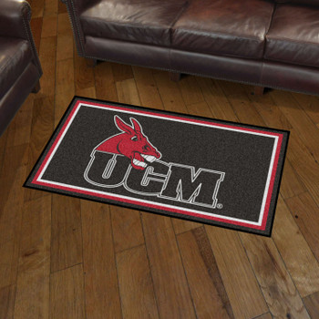 3' x 5' University of Central Missouri Black Rectangle Rug