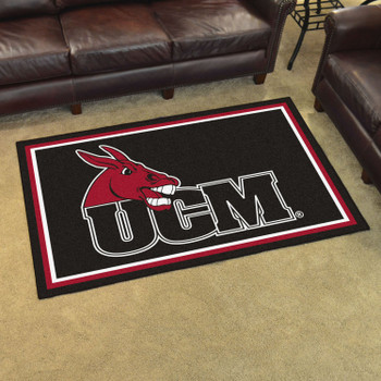 4' x 6' University of Central Missouri Black Rectangle Rug