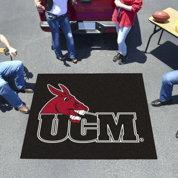 "59.5"" x 71"" University of Central Missouri Black Tailgater Mat"