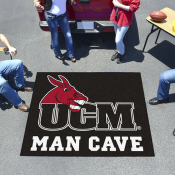 "59.5"" x 71"" University of Central Missouri Man Cave Tailgater Black Rectangle Mat"