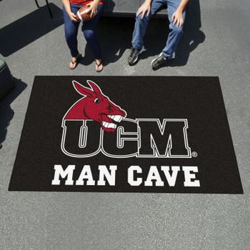 "59.5"" x 94.5"" University of Central Missouri Man Cave Black Rectangle Ulti Mat"