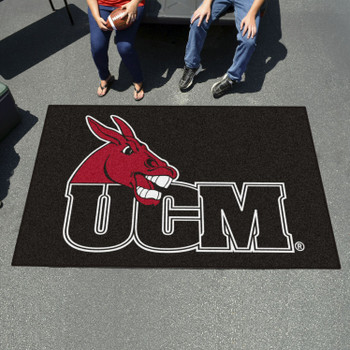 "59.5"" x 94.5"" University of Central Missouri Black Rectangle Ulti Mat"