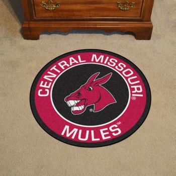 "27"" University of Central Missouri Roundel Round Mat"