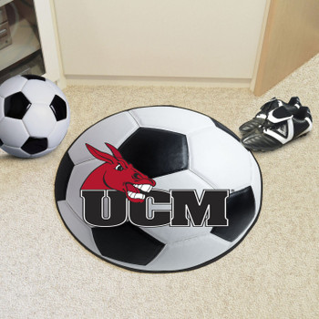"27"" University of Central Missouri Soccer Ball Round Mat"